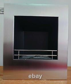 Bio Ethanol Fuel Inset Fire Naked Flame Rivive in Stainless Steel