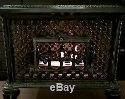 Bio Ethanol Godin Stove Chauffette Fireplace Nouveau Enamelled Cast-iron Antique