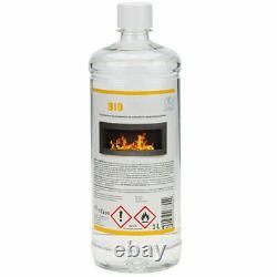 Bio Ethanol Kamin Wand Montiert 900x400 ECO Schwarz Glanz Design + Zubehör