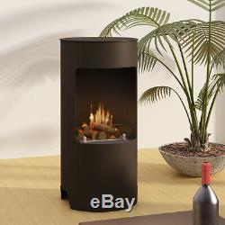 Bio-Ethanol Real Flame Fireplace + 6Pcs Burning 1L Bottle Of Fuel Log Burner New
