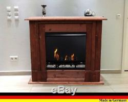 Bio Ethanol und Gelkamin Kamin Fireplace Cheminee Camino Rafael Premium Nussbaum