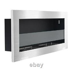 Bio Fire Ethanol Fireplace 2 Burners Stove Indoor Mounted Insert Stainless Steel