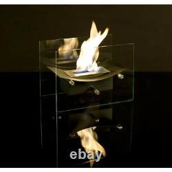 Bio Fires Bio Ethanol Tabletop Burner Fireplace Bow Black Bioethanol