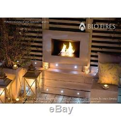 Bio Fires Sterling II Stainless Steel Wall-hanging Bio Ethanol Fire