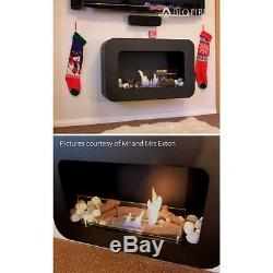 Bio Fires Wall Hanging Black Serenity Bio Ethanol Fire Place Free Standing