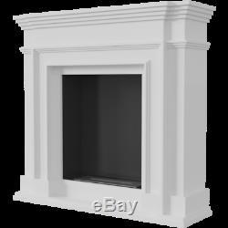 Bio ethanol Fireplace Freestanding White Contemporary Fireplace TUV Certificate