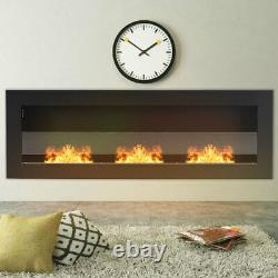 Bio ethanol Fireplace Indoor Biofire Fire Burner Heater Wall Mounted or Inset