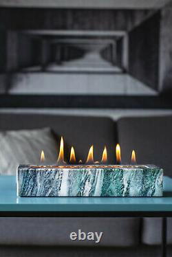 Bio ethanol fire place, Terrace table fireplace, Real fire burner, STONO