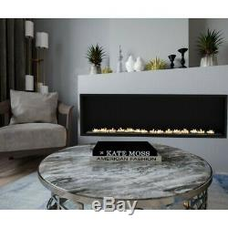 Bio ethanol fireplace 107 cm + glass and single burner of 3 litr without frame