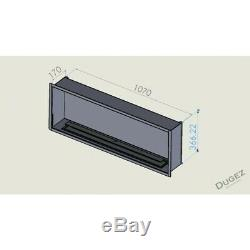 Bio ethanol fireplace 107 cm + glass and single burner of 6 litr without frame