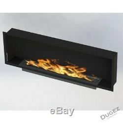 Bio ethanol fireplace 115 cm + glass and single burner of 3 litr without frame