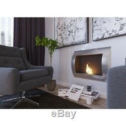 Bio ethanol fireplace 80 cm double security room certificate burner TUV m. Sally