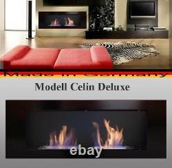 Bioethanol Cheminee Modell Celin Noir Poele Chauffage Fire Place Ethanol