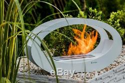 Bioethanol Tischkamin Echo Weiss TÜV Zertifizier Bio Kamin Bio Ethanol fireplace