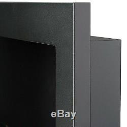 Biokamin 650x400 Schwarz matt m. Scheibe (TÜV) Gel -Ethanol-Kamin Gelkamin Wand
