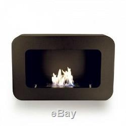 Brand New Black Serenity Flame Bio Ethanol Fireplace