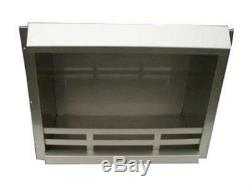 Brennkammer Silber Stahl 48,5x41x23 cm für Ethanol Kamin Bio Ethanol/Gelkamin