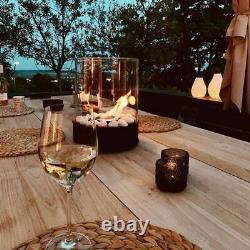 Chantico Glassfire by Planika Modern Portable Bio Ethanol Tabletop Fireplace