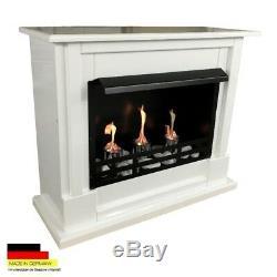 Cheminée Foyer Bio Ethanol Firegel Gel Cheminee Fireplace Chimenea Nizza Blanc