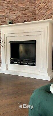 Corner Fire Place With Bio Ethanol Or Fire Gel