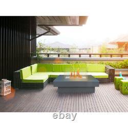 Couchtisch mit Feuerstelle (bioethanol) Feuertisch für Innen und Außen
