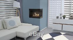 DELTA corner left/right bio ethanol fireplace TÜV certified 4 diffrent sizes