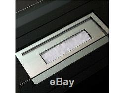 Design Tischkamin, Bio-Ethanol, ohne Asche, Sicherheitsglas 8 mm, ca. 70 cm