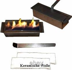 Ethanol Firegel Fireplace Camino Madrid Deluxe Black + 1 Stainless Steel Burner