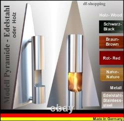 Ethanol- und Gelkamin Cheminee Kamin Fire place Pyramide Wählen Sie die Farbe