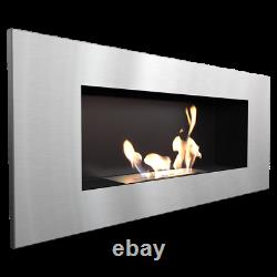 FIREPLACE BIO FIREPLACE MANUAL DELTA 2 inox with TÜV certified natural heating