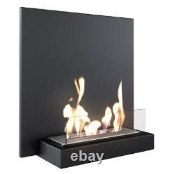Fireplaces hanging black ECO BURNER PLANK 45x45x16 cm BIO ethanol fire surrounds