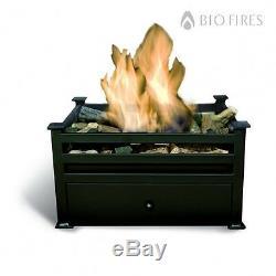 Free Standing Black Satin Bio Ethanol Fire Grate Bioethanol Fuel