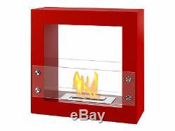 Freestanding Ventless Bio Ethanol Fireplace Tectum Mini Red Ignis
