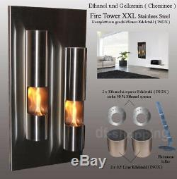 Gel- and Ethanol-Fireplace Fire-Tower / Made in Germany / fire place bio etanol