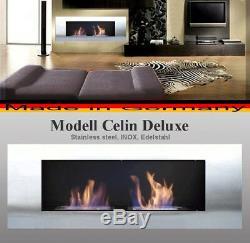 Gel- und Ethanol-Kamin Celin-Deluxe Edelstahl / gelkamin ethanolkamin bioethanol