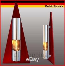 Gel- und Ethanol-Kamin Pyramide Rot / gelkamin ethanolkamin bioethanol fireplace
