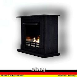 Gel und Ethanolkamin Camino Kamin Fireplace Cheminee Emily Deluxe Royal Schwarz
