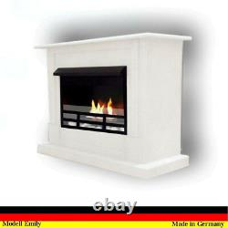 Gelkamin Ethanolkamin Kamin Fireplace Cheminee Camino Emily Deluxe Royal Weiss
