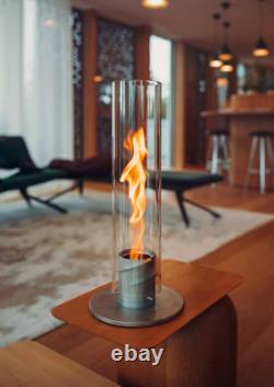 Höfats/Hofats SPIN 120 Table-Top Fireplace Silver