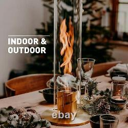 Höfats Spin Bioethanol Fireplace for Indoor and Outdoor Table Fire, Lantern a