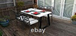 IDEAL Bio Flame Patio Table With Bioethanol Real Flame Fire