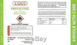 Ignis Bio Ethanol Fuel 36 Pack Ethanol Fireplace Fuel 1 Quart per Bottle