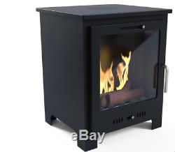 Imagin Fires Malvern Bio-Ethanol Real Flame Fireplace + Ceramic Logs + 6 x 1L Fu