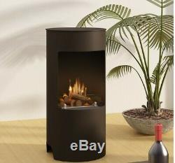 Imagin Fires Stow Bio-Ethanol Real Flame Fireplace & 6 x 1L Bottle of Fuel 19kg