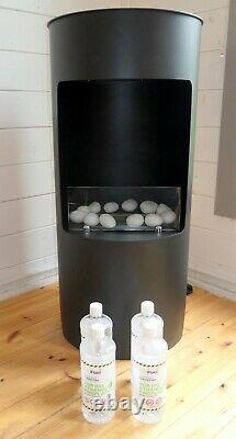 Imagin Stow Bio-Ethanol Real Flame Fireplace with 4 Litres of Fuel included