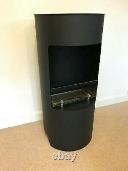 Imaginfires Stow Black Bio-Ethanol Real Flame Fireplace