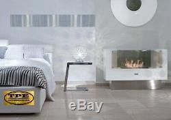 InFire Insignio White Freestanding modern 2 sided Bio-Ethanol Bio Fireplace