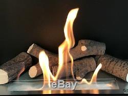 Kamin Biokamin Bioethanol mit TÜV Wandkamin Cheminée, avec Verre mit Glasscheibe