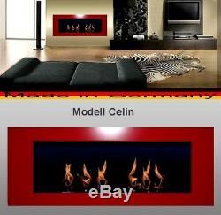 Kamin Celin-Rot für Brenngel o. Ethanol / gelkamin ethanolkamin bioethanol