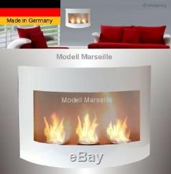 Kamin Marseille-Weiss für Brenngel o. Ethanol / gelkamin ethanolkamin bioethanol